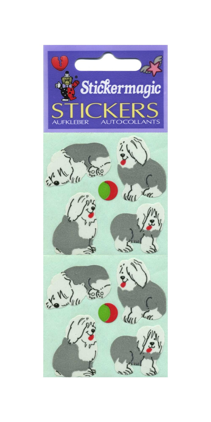 Pack of Paper Stickers - Sheepdog Puppies