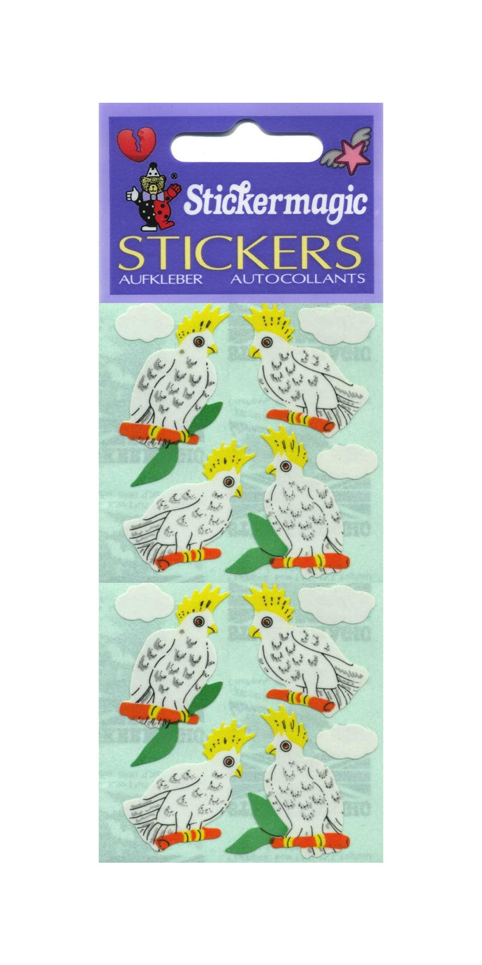 Pack of Paper Stickers - Cockatoos