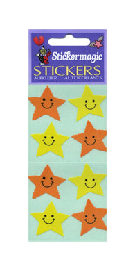 Pack of Paper Stickers - Smiley Stars