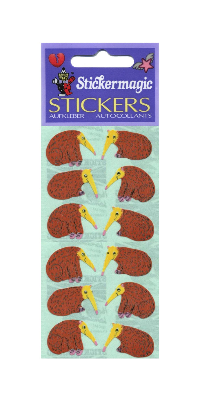 Pack of Paper Stickers - Anteater