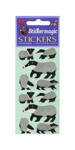 Pack of Paper Stickers - Badger Family
