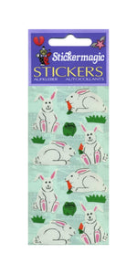 Pack of Paper Stickers - Bunny Rabbits & Carrot