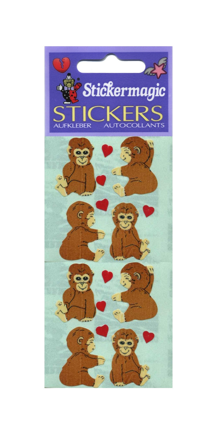 Pack of Paper Stickers - Love Chimps