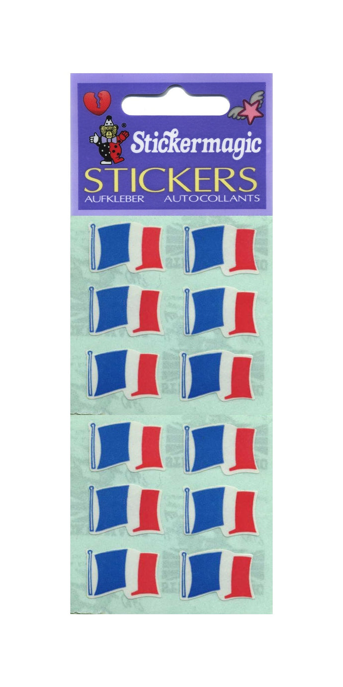 Pack of Paper Stickers - French Flags X 6