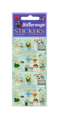 Pack of Paper Stickers - Micro Teddy Kitchen