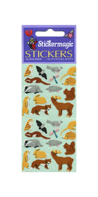Pack of Paper Stickers - Micro Forest Friends