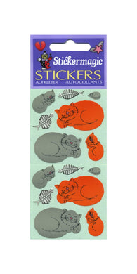 Pack of Paper Stickers - Happy Cats