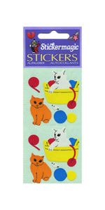 Pack of Paper Stickers - Kittens Playing