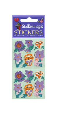 Pack of Paper Stickers - Pansies