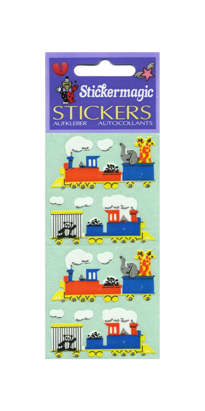 Pack of Paper Stickers - Animal Train