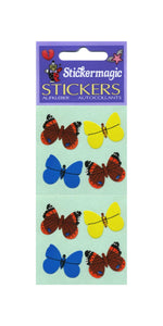 Pack of Paper Stickers - Multi Coloured Butterflies