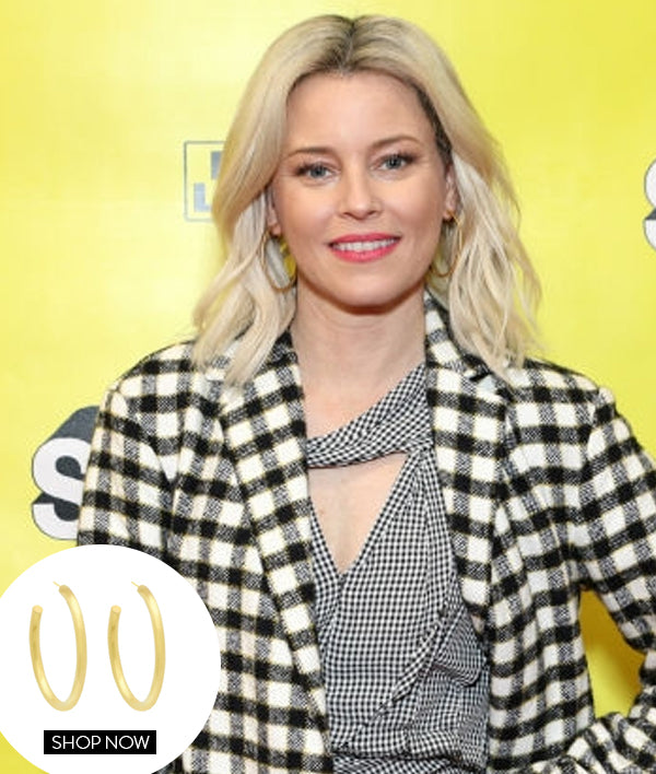 ELIZABETH BANKS IN OUR THIN TUBULAR HOOPS