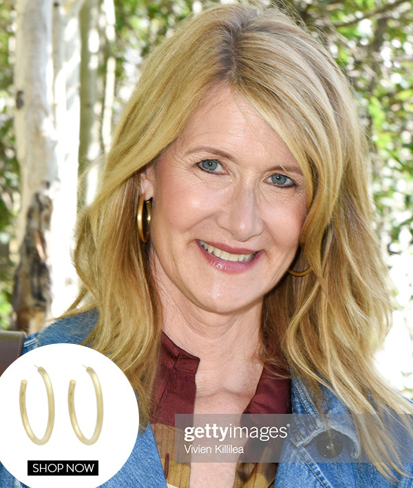 LAURA DERN IN OUR DUNE HOOPS