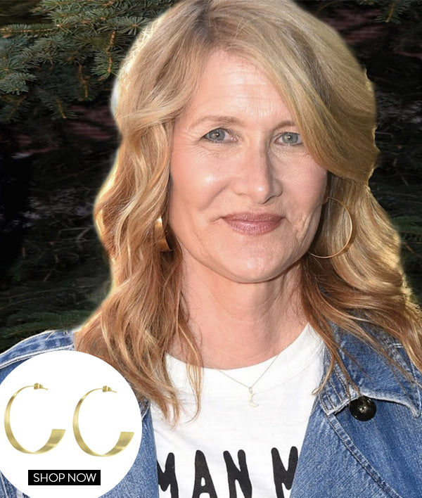 LAURA DERN IN OUR BOSSA HOOPS