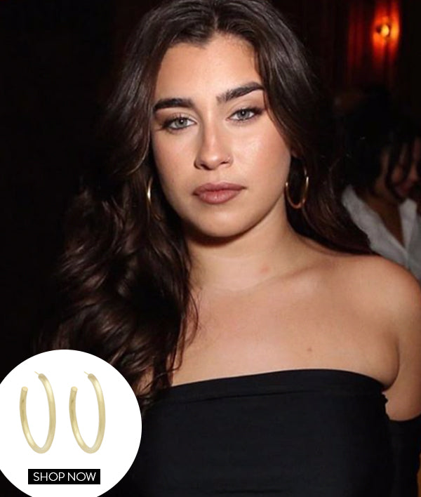 LAUREN JAUREGUI IN OUR SMALL DUNE HOOPS