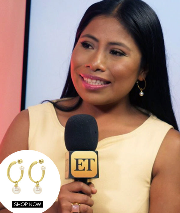 YALITZA APARICIO IN OUR ORIGAMI HOOPS AND PLAZA RING