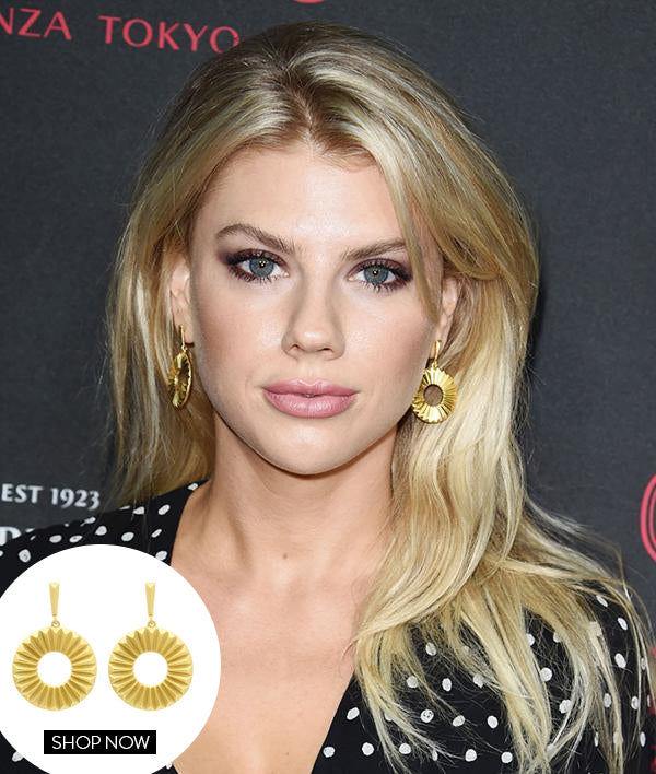 CHARLOTTE MCKINNEY IN OUR MOSAIC EARRINGS