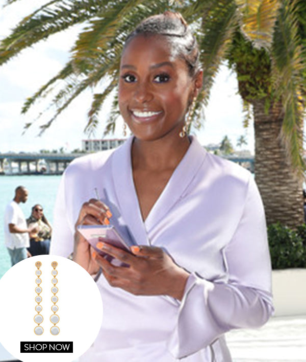 ISSA RAE IN OUR ICONIC DROP EARRINGS