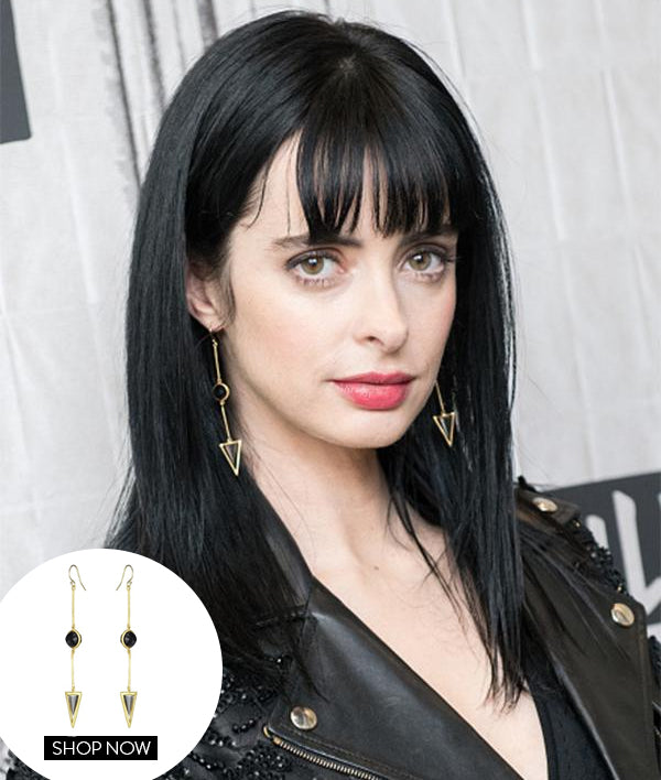 Krysten Ritter in our Rio Drop Earrings