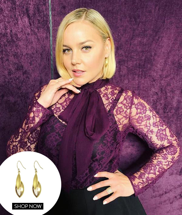 ABBIE CORNISH IN OUR LOTUS EARRINGS