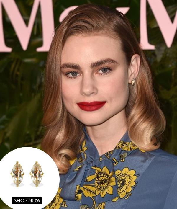 Lucy Fry in our Lotus Studs