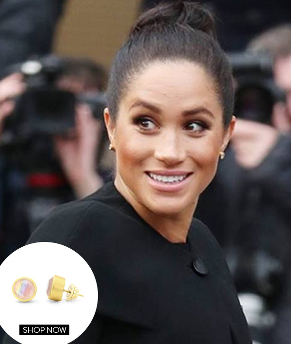 MEGHAN MARKLE IN OUR SIGNATURE MIDI KNOCKOUT STUDS