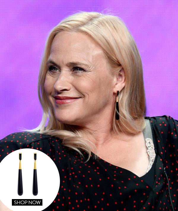 PATRICIA ARQUETTE IN OUR REIGN DROP EARRINGS