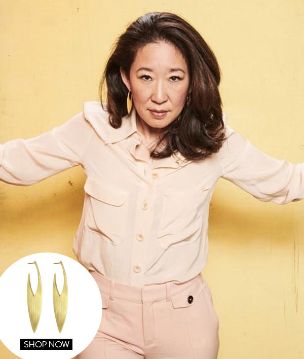 Sandra Oh In Our Taj Earrings