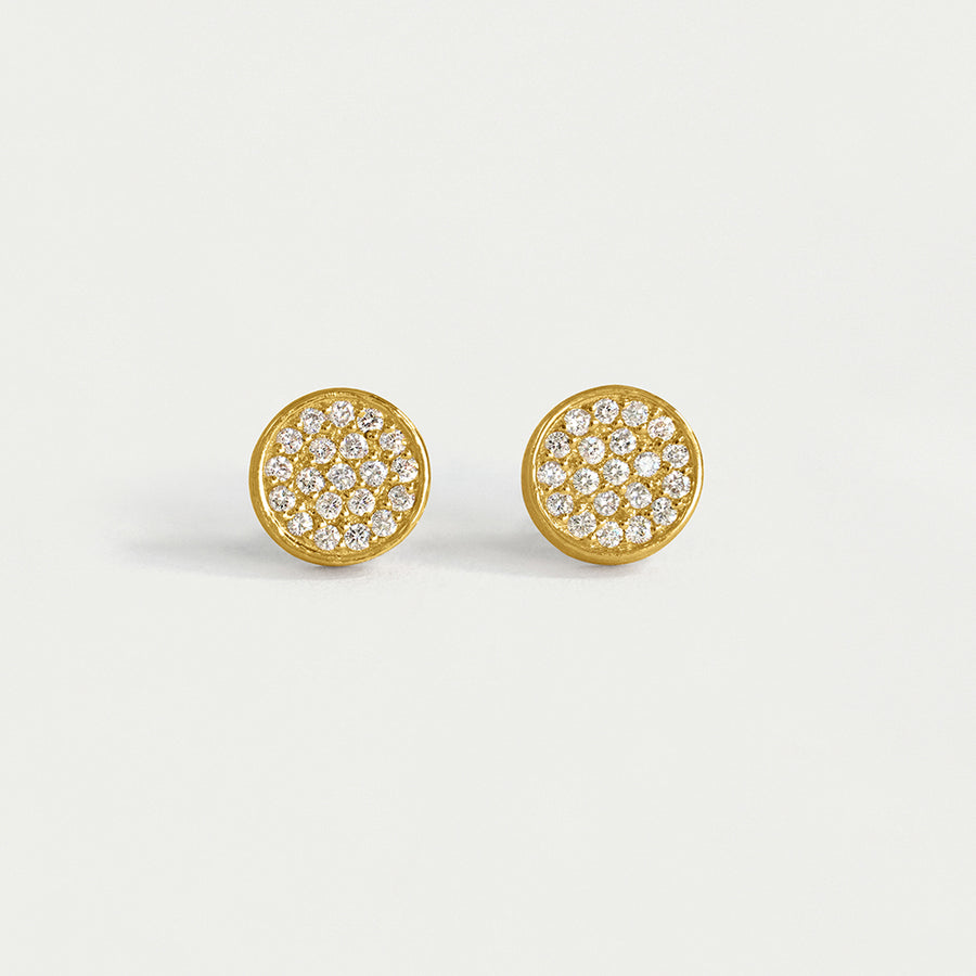DEAN DAVIDSON SIGNATURE DIAMOND STUD EARRINGS YELLOW GOLD
