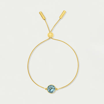 DEAN DAVIDSON SIGNATURE KNOCKOUT CHAIN BRACELET GOLD BLUE TOPAZ