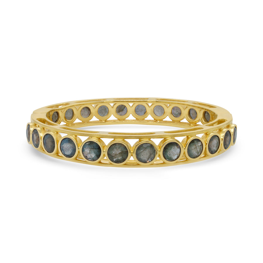 DEAN DAVIDSON SIGNATURE GEMSTONE BANGLE GOLD LABRADORITE