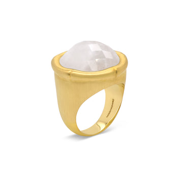 BAMBOO GEMSTONE RING