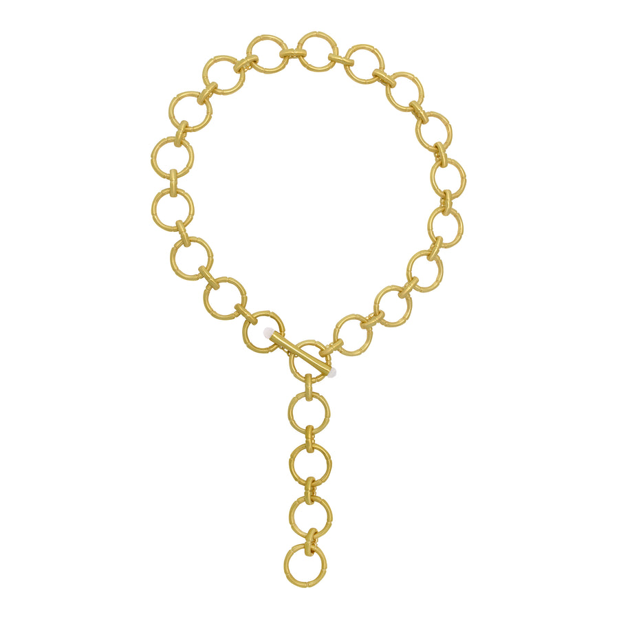 BAMBOO LINK CHAIN NECKLACE
