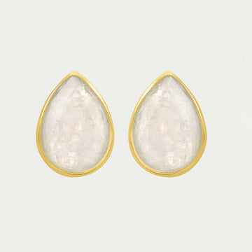 SIGNATURE TEARDROP GEMSTONE STUDS