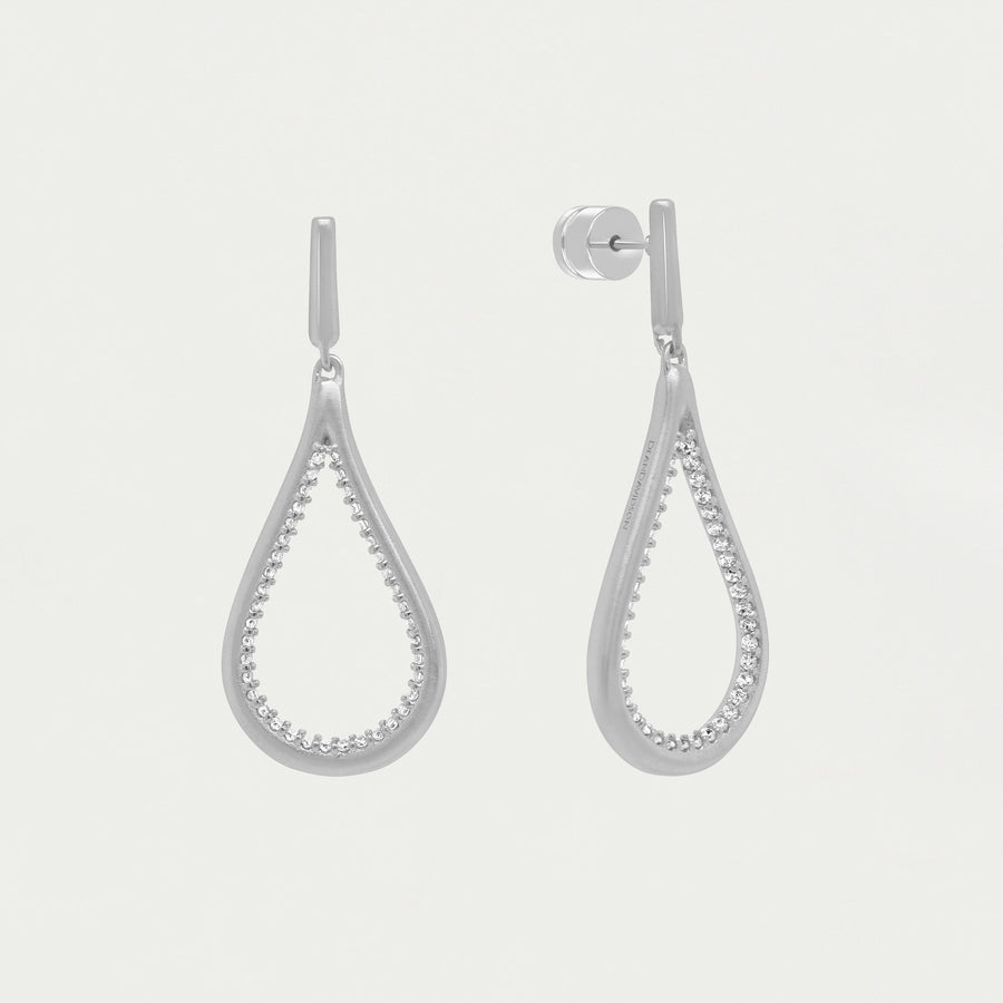 SIGNATURE PAVE TEARDROP EARRINGS