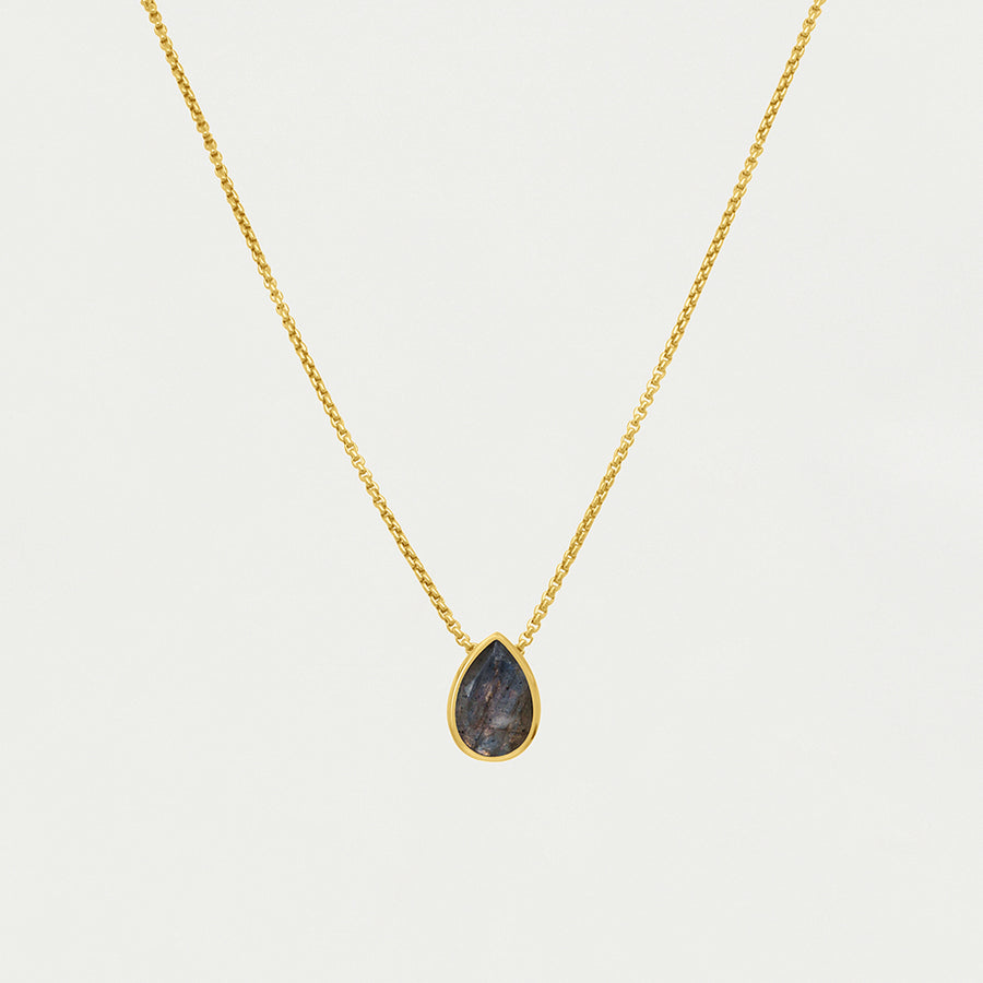 SIGNATURE TEARDROP MINI GEMSTONE PENDANT
