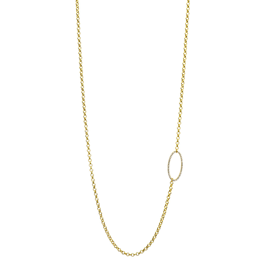SIGNATURE PAVE LONG NECKLACE