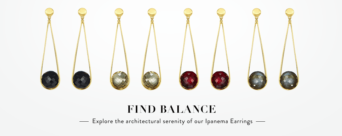 Explore the architectural serenity of our Ipanema Earrings