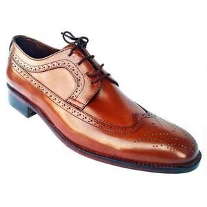 ELETE Hand Made Oxford Brook Brown Shoes