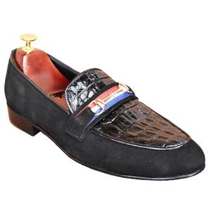 ELETE Handmade Patent Seude Mixed Loafers