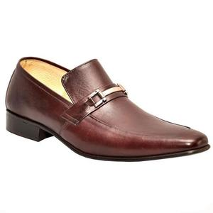 ELETE Handmade Brown Leather Loafers