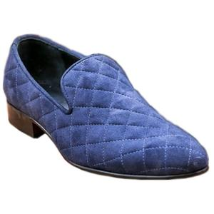 ELETE Handmade Blue Suede Leather