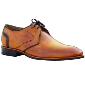 ELETE Handmade Light Brown Patina Oxford Shoes