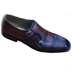 ELETE Hand Painted and Crafted Monk Loafers