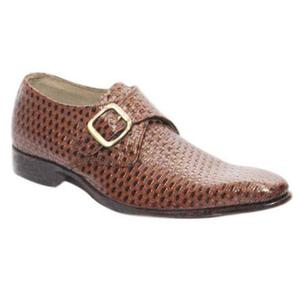 ELETE Handmade Leather Monk Strap Shoes