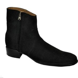ELETE Handmade Black Suede Leather Men Boots