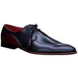 ELETE Hand Made Fold Sole Black Oxford Shoes