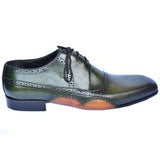 ELETE Hand Made Fold Sole Green Patina Shoes