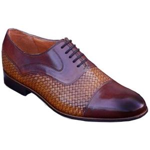 ELETE Handmade Double Shade Knitted Oxfords Shoes