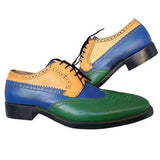 ELETE Handmade Tri Colored Oxford Shoes